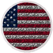 Boxed Flag Round Beach Towel