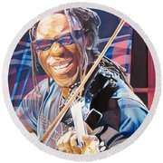 Boyd Tinsley And 2007 Lights Round Beach Towel by Joshua Morton