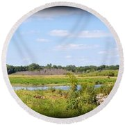 Boylan Marsh Round Beach Towel