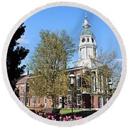 Boyle County Courthouse 3 Round Beach Towel