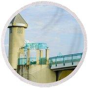 Boyton Beach Bridge Round Beach Towel
