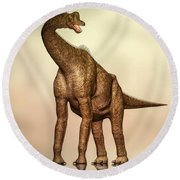 Brachiosaurus Dinosaur Round Beach Towel