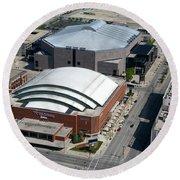 Bradley Center And Us Cellular Arena Round Beach Towel