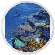 Brain Coral Round Beach Towel