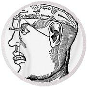 Brain Diagram, 1503 Round Beach Towel