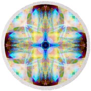 Brainbow Mandala Round Beach Towel