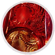 Brake Light 45 Round Beach Towel