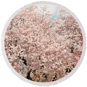 Branch Brook Cherry Blossoms Iv Round Beach Towel