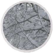 Branched Snow Round Beach Towel