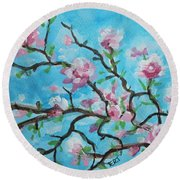 Branches In Bloom Round Beach Towel