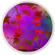 Branches In The Mist 13 Round Beach Towel