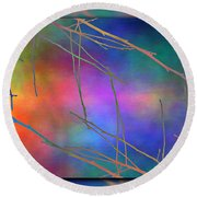 Branches In The Mist 15 Round Beach Towel