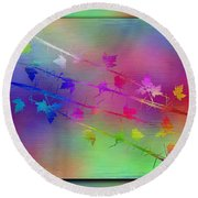 Branches In The Mist 17 Round Beach Towel