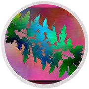 Branches In The Mist 18 Round Beach Towel
