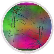 Branches In The Mist 23 Round Beach Towel