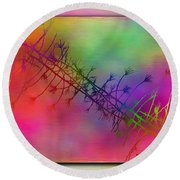 Branches In The Mist 24 Round Beach Towel