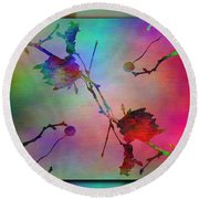 Branches In The Mist 26 Round Beach Towel