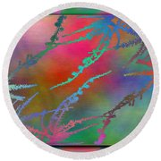 Branches In The Mist 28 Round Beach Towel