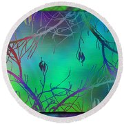 Branches In The Mist 35 Round Beach Towel