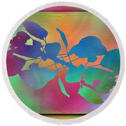 Branches In The Mist 37 Round Beach Towel