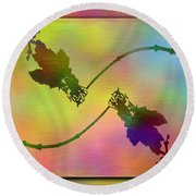 Branches In The Mist 44 Round Beach Towel
