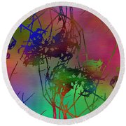 Branches In The Mist 47 Round Beach Towel