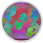 Branches In The Mist 49 Round Beach Towel