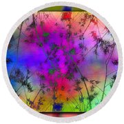 Branches In The Mist 5 Round Beach Towel