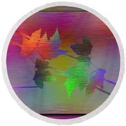 Branches In The Mist 55 Round Beach Towel