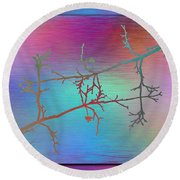 Branches In The Mist 60 Round Beach Towel