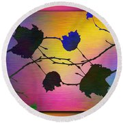 Branches In The Mist 71 Round Beach Towel