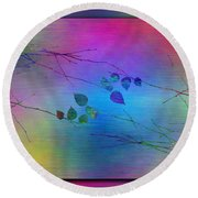 Branches In The Mist 81 Round Beach Towel