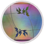 Branches In The Mist 82 Round Beach Towel