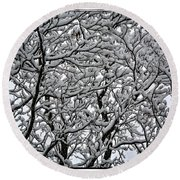 Branches Of Our Life Round Beach Towel