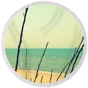 Branches On The Beach Round Beach Towel