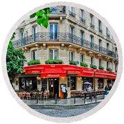 Brasserie De L'isle St. Louis Paris Round Beach Towel