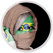 Brazil Round Beach Towel