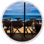 Break Coffee Round Beach Towel
