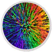 Break On Through Round Beach Towel