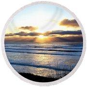 Breaking Dawn Round Beach Towel