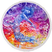 Unstoppable  Breaking Free II Round Beach Towel