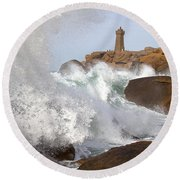 Breaking Of Waves Round Beach Towel