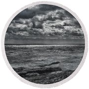 Breaking Sun Round Beach Towel