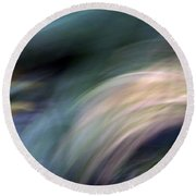 Breaking The Waves Round Beach Towel