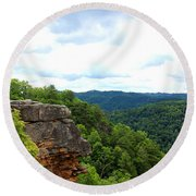 Breaks Interstate Park Virginia Kentucky Rock Valley View Overlook Round Beach Towel