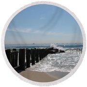 Breakwater II Round Beach Towel