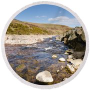 Breamish River Round Beach Towel
