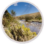 Breamish Valley In Spring Round Beach Towel