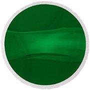 Breathing Wall Green Version Round Beach Towel