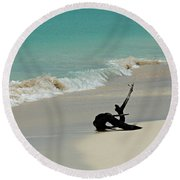 Breathtaking Barbuda Round Beach Towel